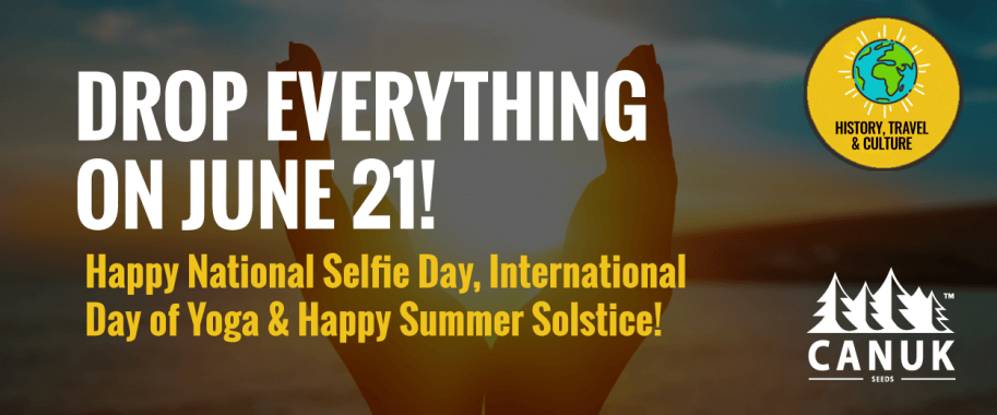 Drop Everything on June 21! Happy National Selfie Day, International Day of Yoga & Happy Summer Solstice!