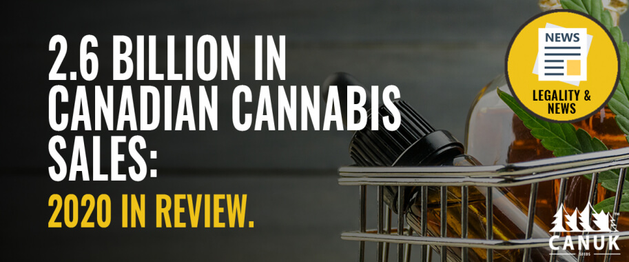 2.6 Billion in Canadian Cannabis Sales: 2020 in Review